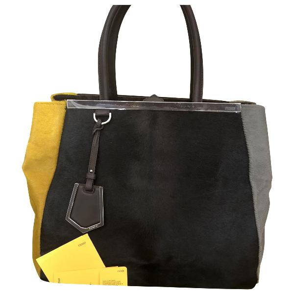 Fendi 2jours Black Pony-style Calfskin Handbag