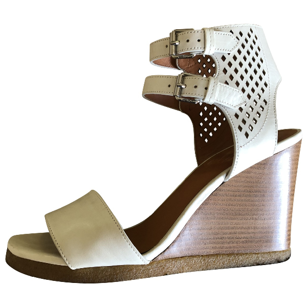 Marc Jacobs White Leather Sandals