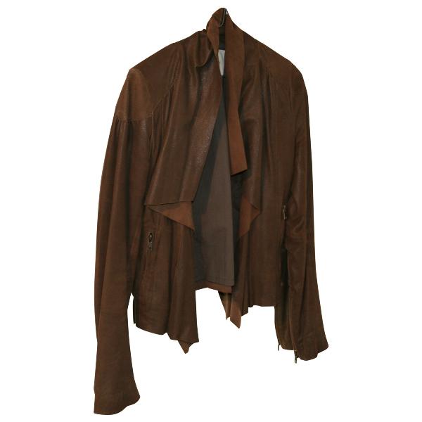 Maje Brown Leather Jacket