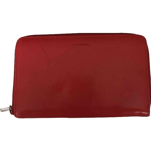 Lancel Red Leather Wallet