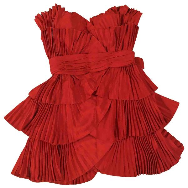 Azzaro Red Silk Dress