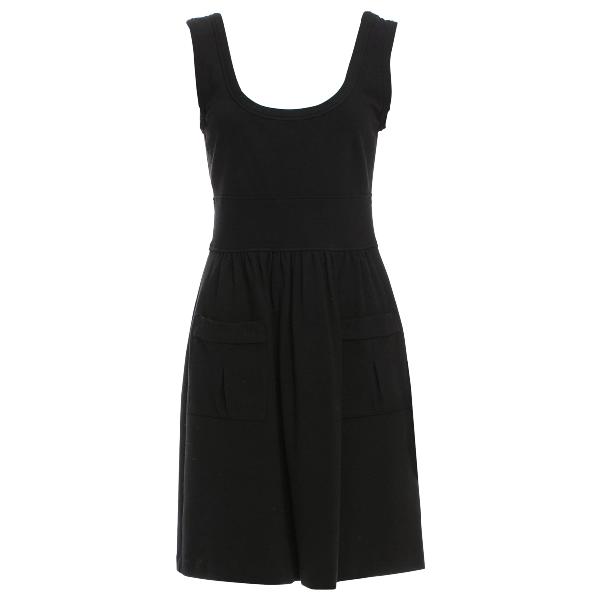 Diane Von Furstenberg Black Cotton - Elasthane Dress