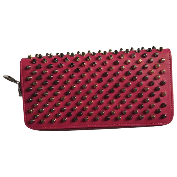 Christian Louboutin Panettone Red Leather Wallet
