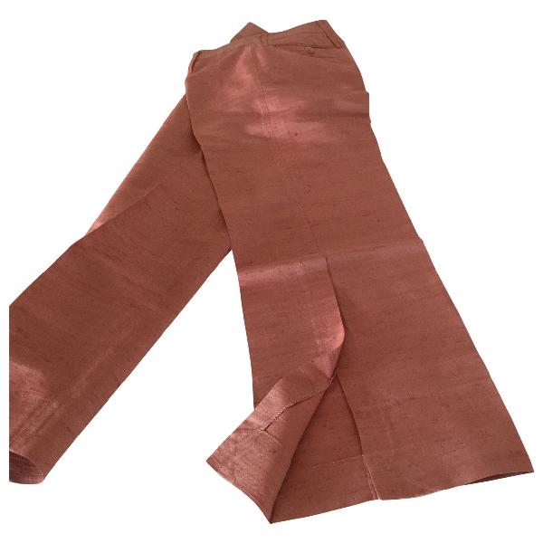 Dolce & Gabbana Pink Silk Trousers