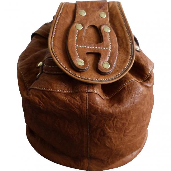 Hogan Camel Leather Handbag