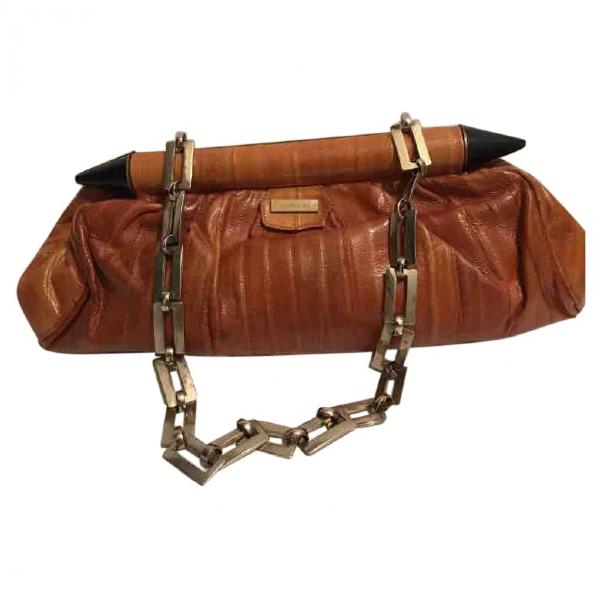 Roberto Cavalli Brown Leather Handbag