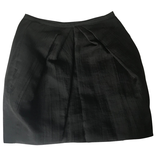 Louis Vuitton Black Wool Skirt