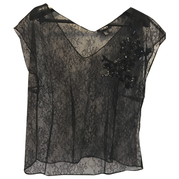 Dkny Black Lace  Top