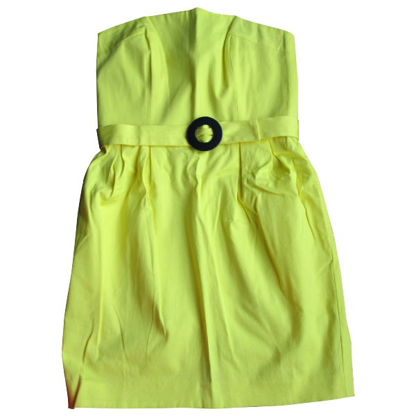 French Connection Yellow Cotton Dress