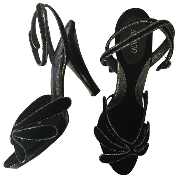 Azzaro Blue Velvet Sandals