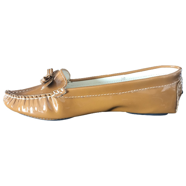 Marc Jacobs Brown Patent Leather Flats