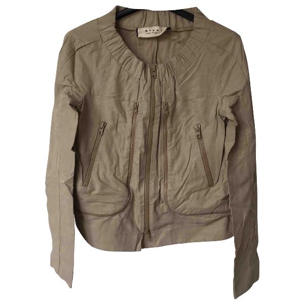 Marni Beige Cotton Jacket
