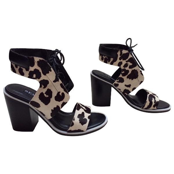 Senso Pony-style Calfskin Sandals