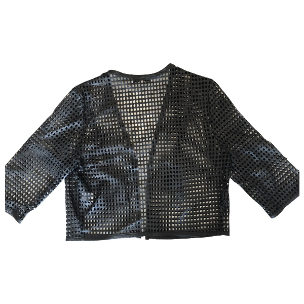 Milly Black Leather Jacket