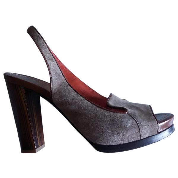 Santoni Suede Sandals