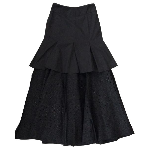 Alexander Mcqueen Grey Wool Skirt