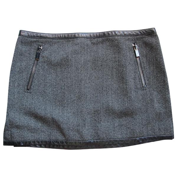 Barbara Bui Anthracite Wool Skirt