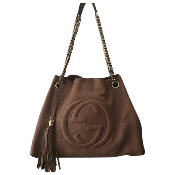 Gucci Soho Pink Leather Handbag