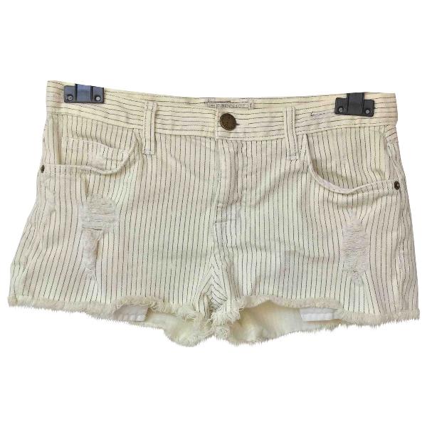 Current Elliott White Denim - Jeans Shorts