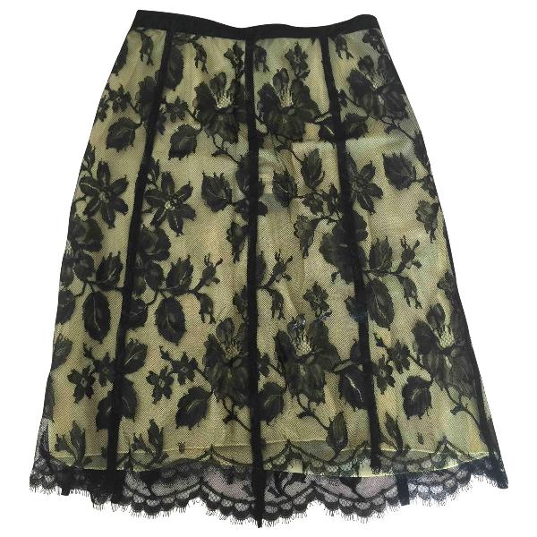Louis Vuitton Yellow Silk Skirt