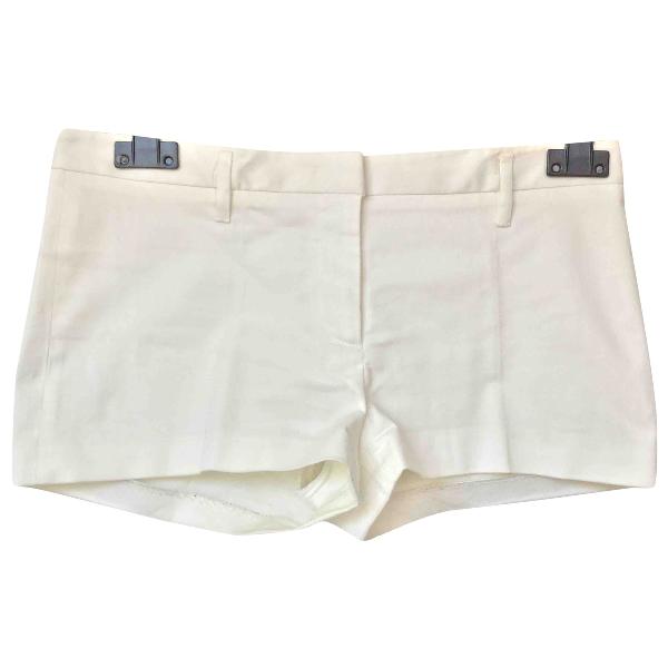 Prada White Cotton Shorts