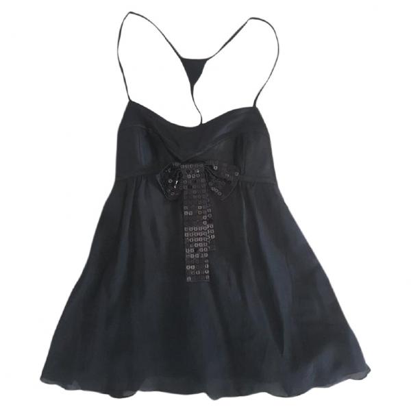 Emporio Armani Black Silk  Top