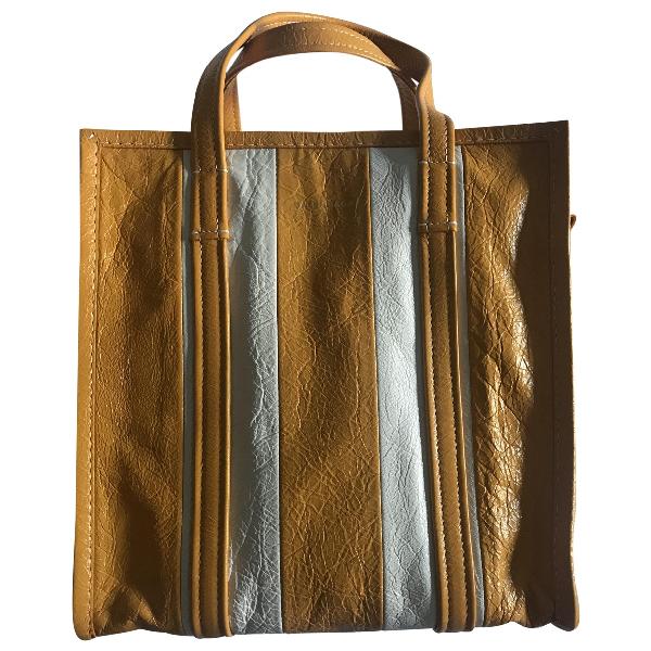 Balenciaga Bazar Bag Yellow Leather Handbag