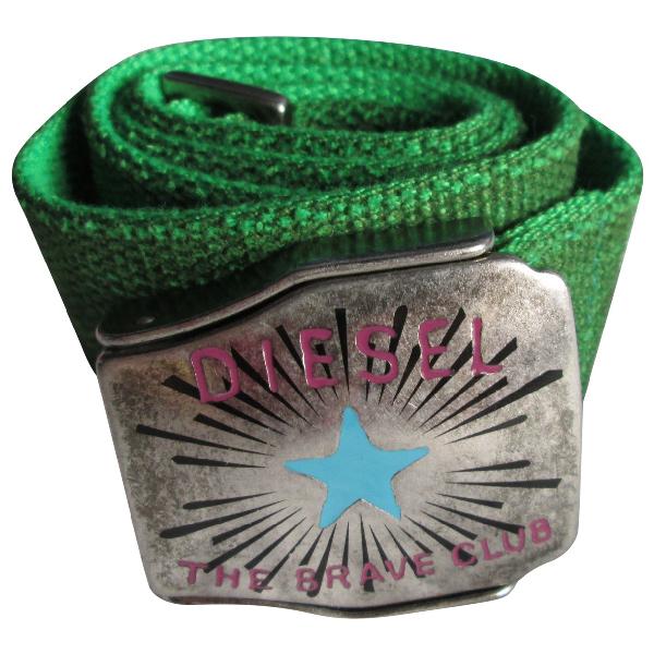 Diesel Green Cloth Belt