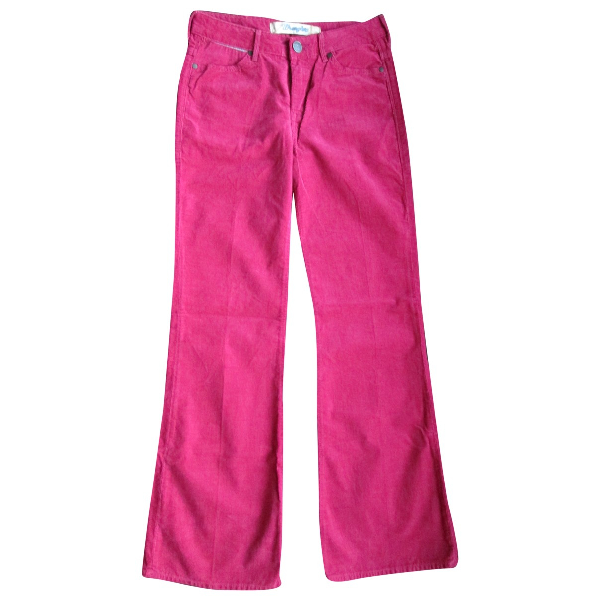 Wrangler Red Cotton Jeans