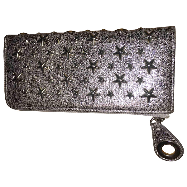Jimmy Choo Silver Leather Wallet