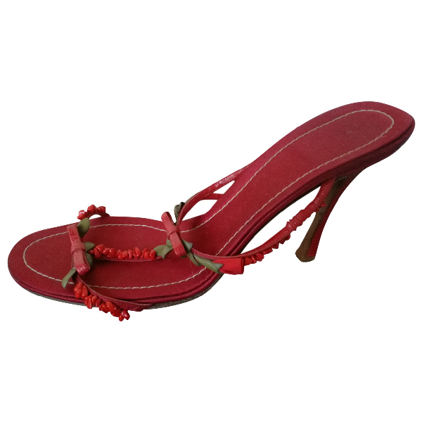 Valentino Garavani Red Cloth Sandals