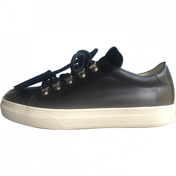 Tod's Black Leather Trainers