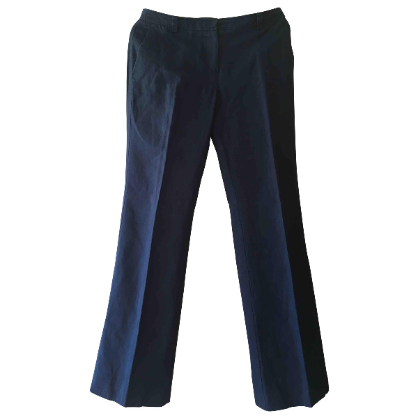 Cacharel Navy Cotton Trousers