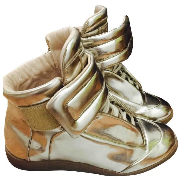 Maison Margiela Gold Leather Trainers