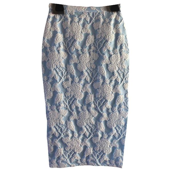 Rochas Navy Cotton Skirt