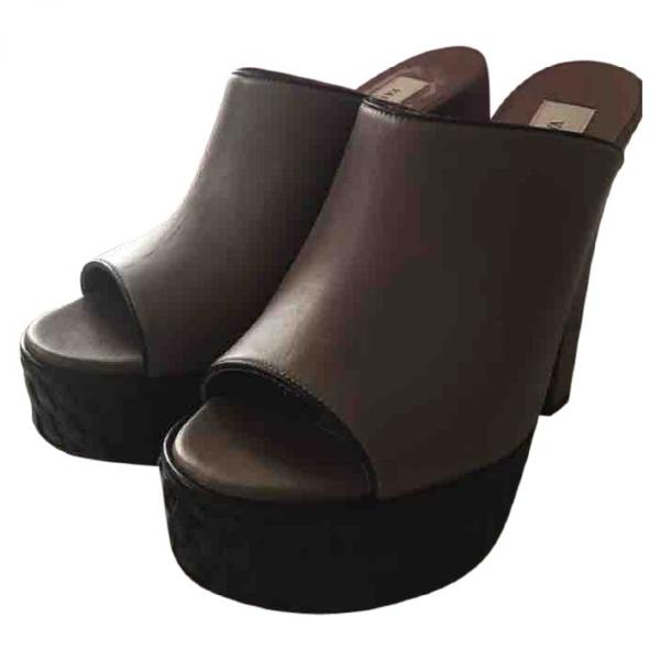 Versace Camel Leather Sandals