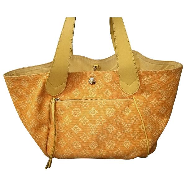 Louis Vuitton Yellow Cloth Handbag