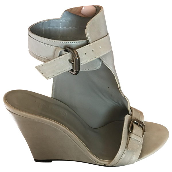 Karl Grey Leather Sandals