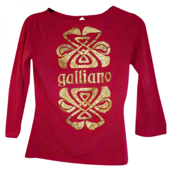 John Galliano Pink Cotton Knitwear