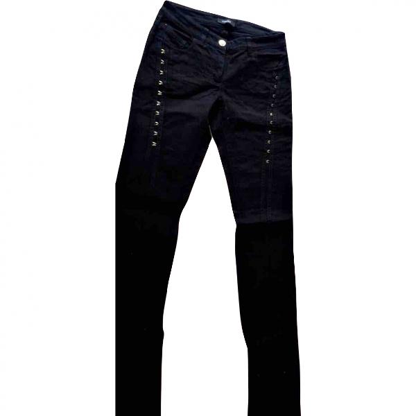 Versace Black Cotton Jeans