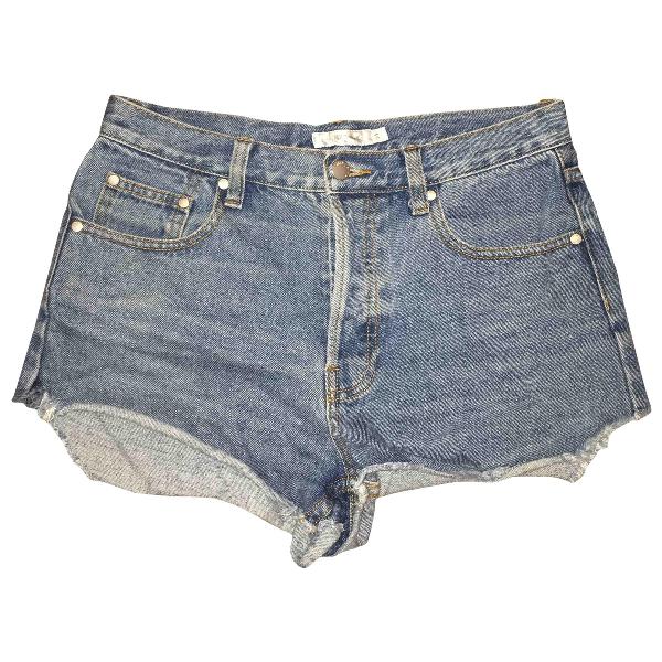 Minkpink Blue Cotton Shorts