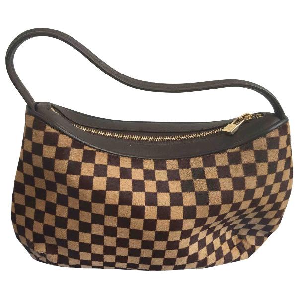 Louis Vuitton Brown Pony-style Calfskin Handbag