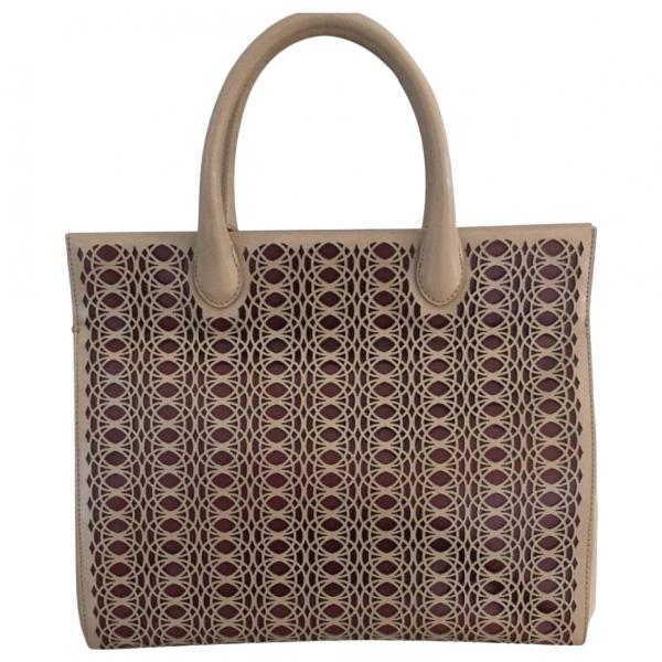 AlaÏa Beige Leather Handbag