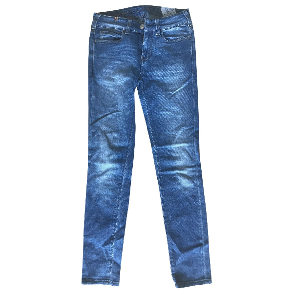 Notify Blue Cotton Trousers