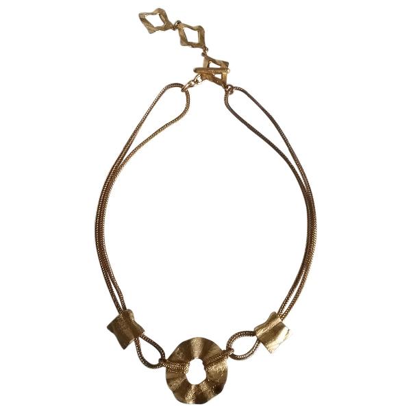 Saint Laurent Gold Metal Necklace