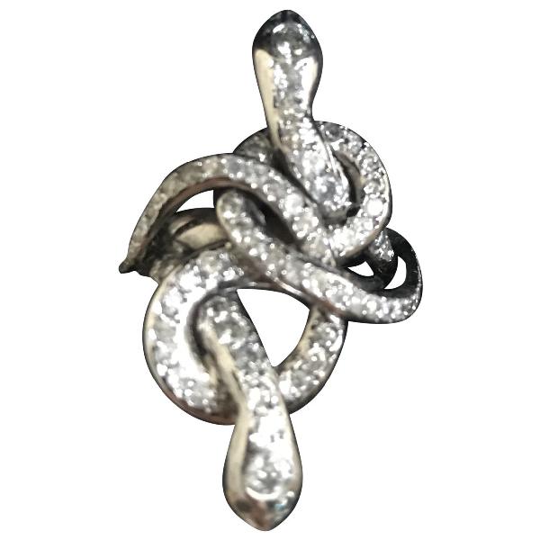 Ileana Makri Metallic White Gold Ring