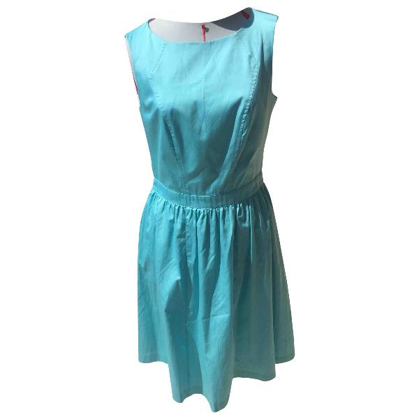 Tara Jarmon Turquoise Cotton Dress