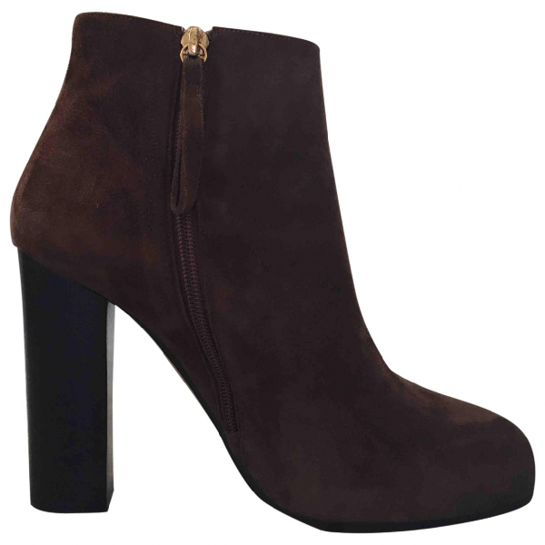 Jean-michel Cazabat Brown Suede Ankle Boots