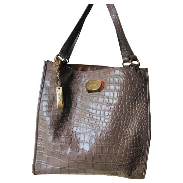 Dkny Beige Leather Handbag
