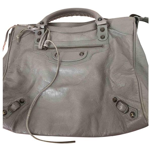 Balenciaga VÉlo Grey Leather Handbag